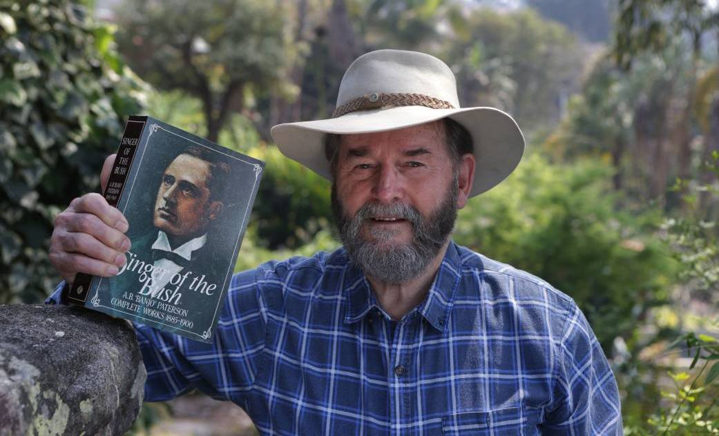 By the book: Oatley's Cliff Crane has researched the life and work of Banjo Paterson for 25 years. Now he has unearthed a previouly unknown work. Picture: John Veage