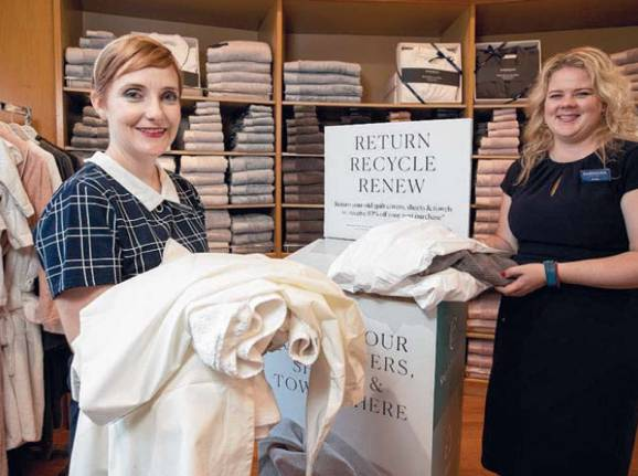 Recycle your old towels, sheets at Sheridan stores
