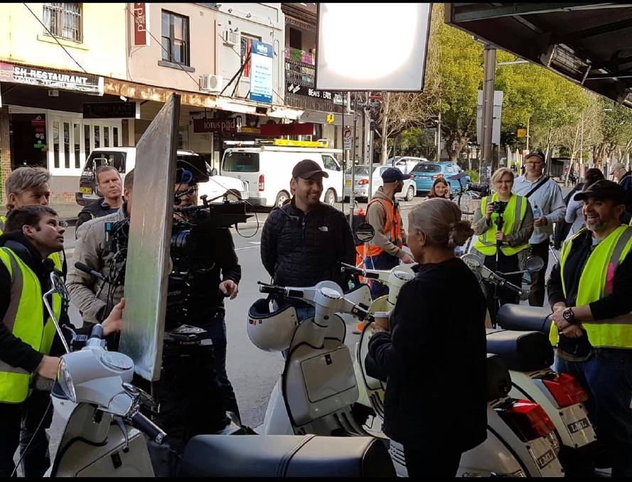 Director Heath Davis on set for another of his projects. He will film his next movie in the Macarthur region. Picture: Supplied