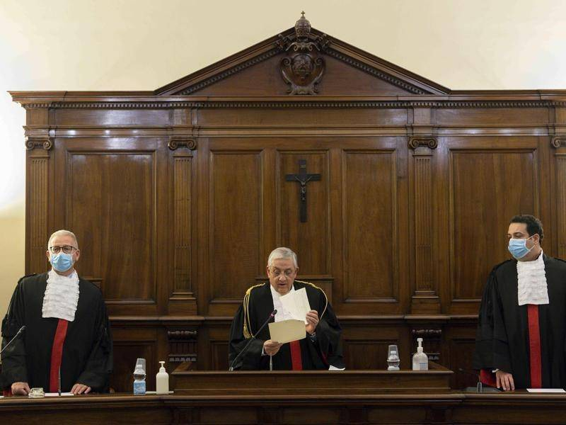 A court in the Vatican has convicted Angelo Caloia on charges of embezzlement and money laundering.