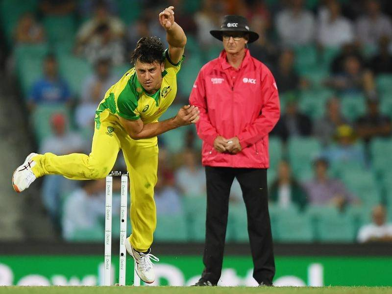Marcus Stoinis bowled in the ODI win over India at the SCG before suffering a side injury.